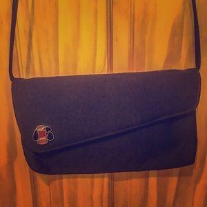 Vintage black crossbody bag